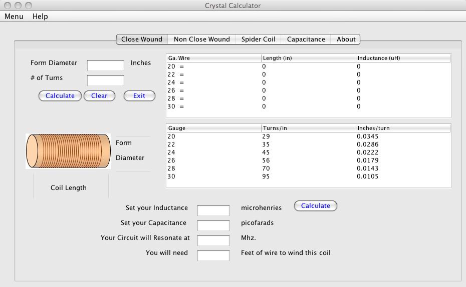 Coil calculator